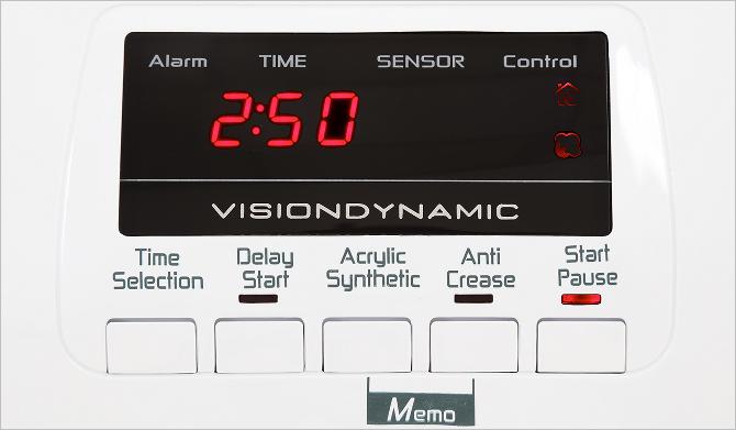 Tumble dryer control panel