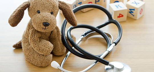 Teddy and stethoscope