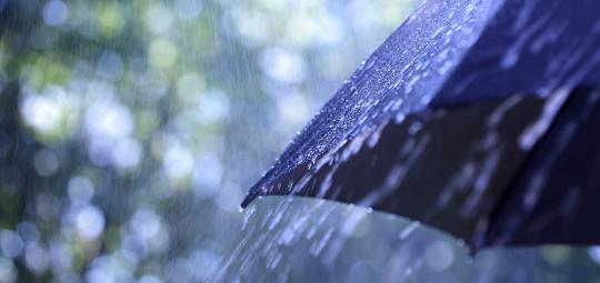 Umbrella in bad weather
